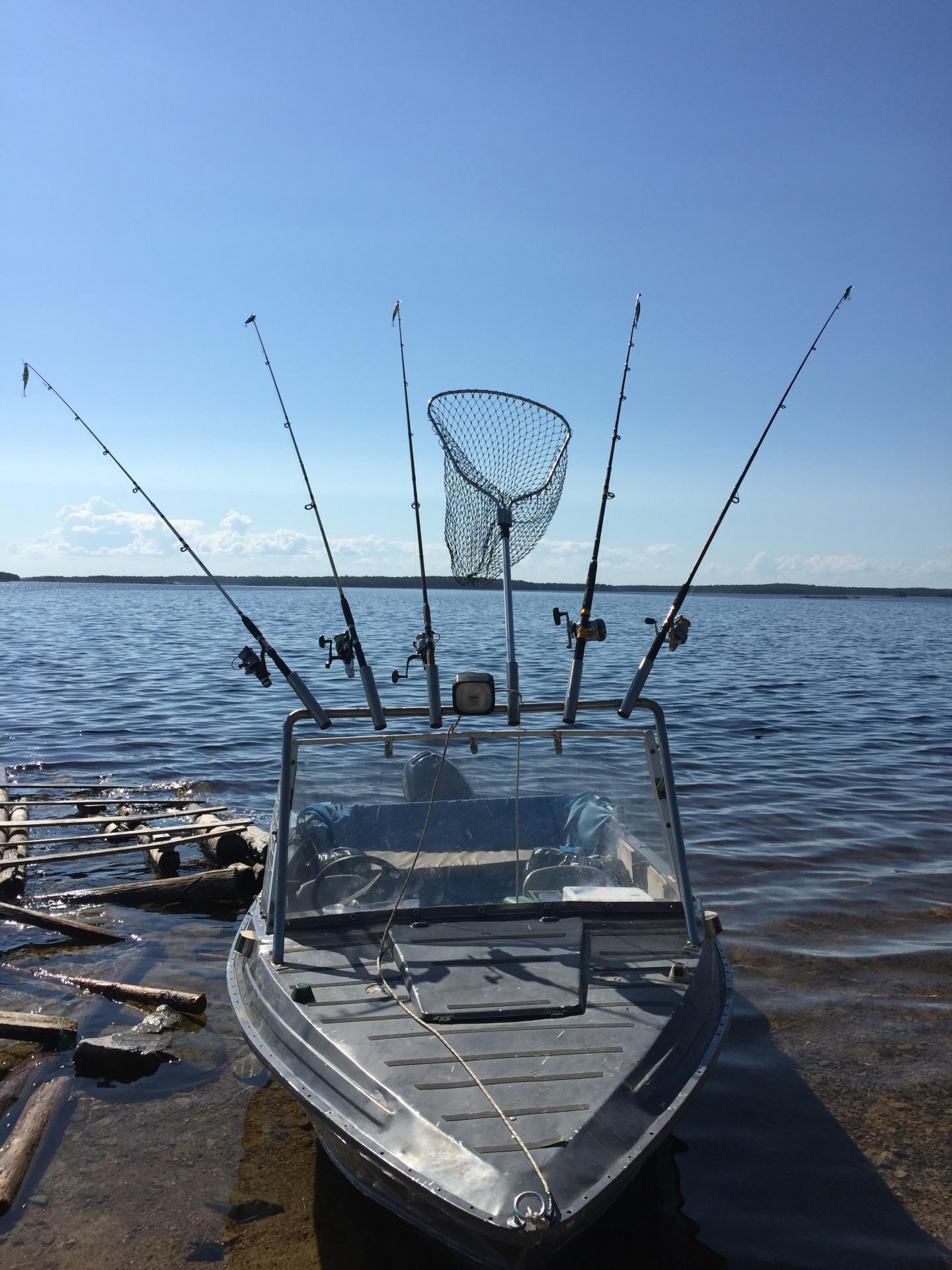 Троллинг в Онежском озере